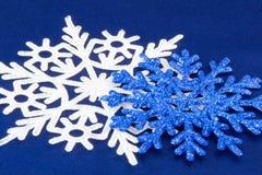 Макрос снятый от снежинки абстрактная зима предпосылки Стоковое фото RF