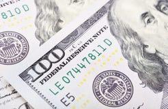 Макрос снятый 100 долларов США Стоковая Фотография