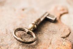 Макрос снятый ретро ключа Стоковые Фотографии RF