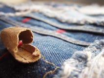 Одеяло джинсовой ткани Стоковые Фотографии RF