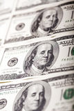 Портрет Билла доллара Бенджамина Франклина 100 Стоковое Изображение