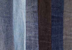 Макрос ткани джинсов Стоковая Фотография RF