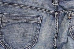 Макрос ткани джинсов стоковые изображения rf