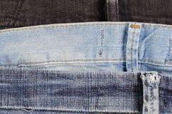 Макрос ткани джинсов стоковые фотографии rf