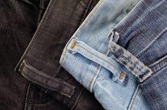 Макрос ткани джинсов Стоковое фото RF