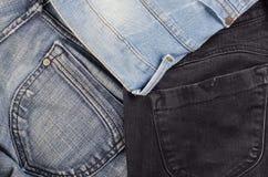 Макрос ткани джинсов Стоковое Изображение RF
