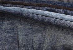 Макрос ткани джинсов стоковое изображение
