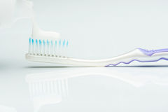 Макрос установки зубной пасты Стоковые Фото