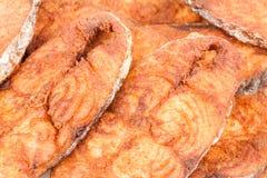 Макрос фрая филе seerfish Стоковые Изображения