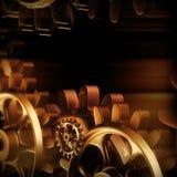Макрос шестерней и cogs золота иллюстрация штока