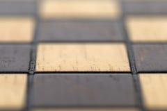 макрос chessboard пустой Стоковое Изображение