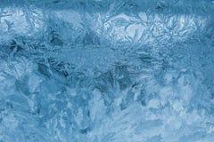 Макрос Frost стекла картины абстракции морозный Стоковая Фотография