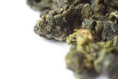 Макрос Oolong зеленого чая Стоковое Фото