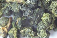 Макрос Oolong зеленого чая Стоковые Фото