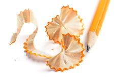 Макрос shavings карандаша стоковые фото