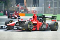 Максимальное Chilton участвуя в гонке в Сингапур GP2 2012 Стоковое Фото
