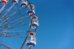 Максимум езды колеса Ferris в небе стоковые фотографии rf