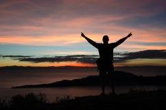 Максимум na górze Isla Del Sol Боливии стоковые фотографии rf