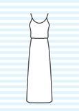 Макси платье Стоковые Фотографии RF