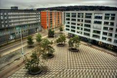Макс-Билл-Platz в Цюрихе HDR Стоковые Изображения RF