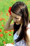 мак девушки цветка Стоковое Изображение