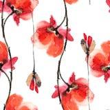 Мак Картина цветков Стоковое Изображение RF