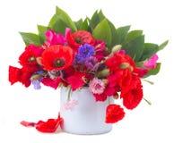 Мак, сладостный горох и цветки мозоли Стоковое Фото
