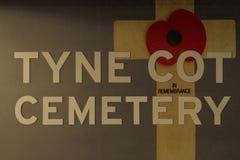Мак Фландрия кладбища кроватки Tyne fields Первая мировая война Стоковое Изображение