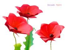 Мак flower3 Origami Стоковые Фотографии RF