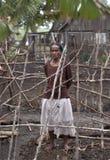 Малагасийская женщина стоковое фото rf