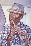 Малагасийский игрок каннелюры с шляпой, портретом Стоковое фото RF