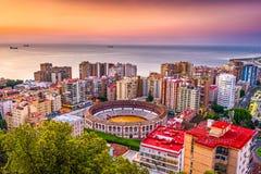 Малага, городской пейзаж Испании Стоковая Фотография RF
