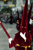 МАЛАГА, ИСПАНИЯ - 12-ОЕ АПРЕЛЯ: Традиционные шествия святой недели i Стоковая Фотография RF