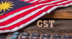 Малайзийская концепция налога GST стоковое изображение rf