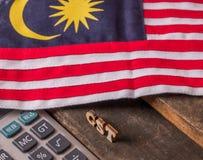 Малайзийская концепция налога GST стоковое фото