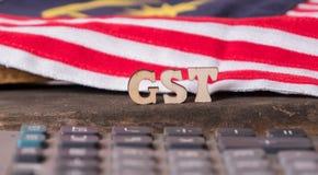 Малайзийская концепция налога GST стоковое изображение