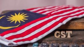 Малайзийская концепция налога GST стоковые изображения