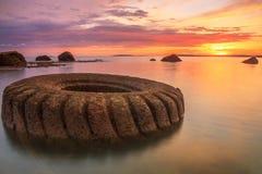 Малайзия Заход солнца на метаноле labuan petronas Стоковое Изображение