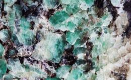 Малахит в группе в составе слюды минералы силиката листа Естественный взгляд макроса картины текстуры декоративного камня Стоковое Изображение RF