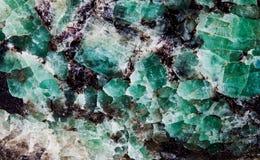 Малахит в группе в составе слюды минералы силиката листа Естественный взгляд макроса картины текстуры декоративного камня Стоковые Изображения