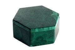малахит коробки зеленый Стоковые Фотографии RF