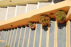 Малая аккуратная лестница покрашенная вручную Стоковая Фотография
