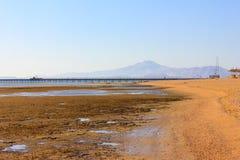 Малая вода на пляже Стоковое Изображение RF