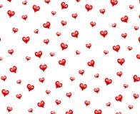Малая декоративная красная предпосылка картины сердец стоковая фотография