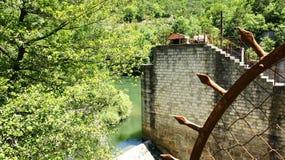 Малая запруда на реке Ter Стоковые Изображения RF