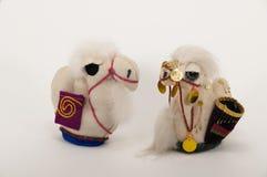 Малая игрушка верблюда handmade 2 Стоковое Фото