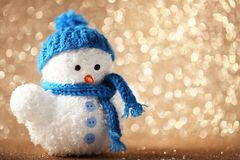 Малая игрушка снеговика Стоковые Фотографии RF