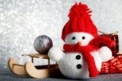 Малая игрушка снеговика Стоковое Фото