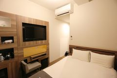 малая комната кровати гостиницы Японии Стоковая Фотография