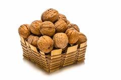 Малая корзина грецких орехов Стоковое Изображение